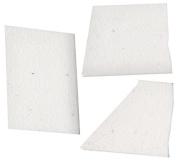 Mosaic Mercantile Crafter's Cut Ceramic Mosaic Tile, 0.5kg, White