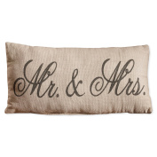 Country House Collection Primitive Cotton 30cm X 15cm Throw Pillow Mr. & Mrs.