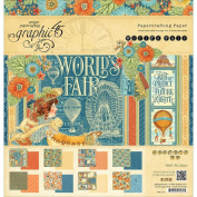 "Graphic 110cm world's Fair"" 12x 12 Paper Pad Fairs Carnivals Scrapjack's Place"