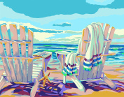 Plaid Creates Paint by Number Kit (28cm by 36cm ), 22058 Seaside