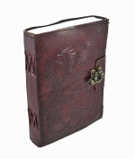 Gbagt Embossed Leather Gryphon Journal With Brass Clasp