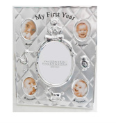 Briarwood My First Year Baby Photo Frame In Silver-tone