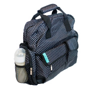Baby - Steps Black & White Polka Dot Nappy Bag / Backpack. Comes With Fr... New