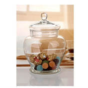 Elegant Clear Glass Apothecary Jar with Lid -28cm High Glass Canister-Decorative & Party Centrepiece
