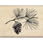 Inkadinkado Mounted Rubber Stamp 7.6cm x 5.7cm -pine Bough