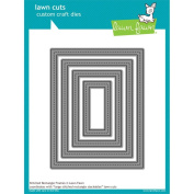Lawn Fawn Custom Die Stitched Rectangle Or Cross-stiched Rectangle - Large Or Sm