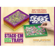 Bits And Pieces - Puzzle Stack-em Sorting Trays - Puzzle Piece Sorter - Puzzle