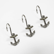 Excell Anchor Shower-curtain Hooks 12-piece Hook Set Silver