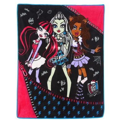 Monster High Throw Blanket Monsters In Charge, New