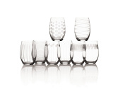 Mikasa Cheers Stemless Wine Glass, 500ml, Set Of 8