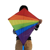 Fun Central Ay976 Kites For Kids, Rainbow Diamond Kite, Easy Flyer Kite