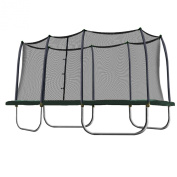 Skywalker Trampolines Rectangle Trampoline And Enclosure With Green Spring