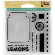 Jillibean Soup Clear Stamps 10cm x 10cm -lemonade