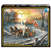 White Mountain Puzzles Terry Redlin Collection 1000-Piece Jigsaw Puzzle, Pleasures of Winter