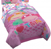 Nickelodeon Teenage Mutant Ninja Turtles I Love TMNT Reversible Comforter for Girls, Twin Pink