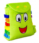 """Buckle Toy """"buddy"""" Backpack - Toddler Early Learning Basic Life Skills Children'"""