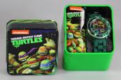 Nickelodeon Kids' Tmn4008 Teenage Mutant Ninja Turtles Watch With Green Rubber