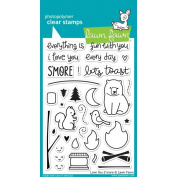 Lawn Fawn Clear Stamps - Love You S'more, New,  .