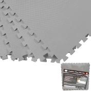 9.3sqm Eva Foam Floor Mat Set Interlocking Puzzle Large Tile Gym Custom Grey