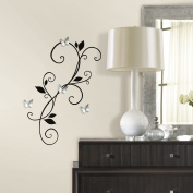 Roommates Scroll Sconce Peel And Stick Wall Decals With Bendable Butterfly Mi...