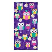 Dawhud Direct Owl Design Beach Towel