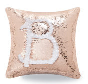 BOOBEI Two Colours Reversible Sequins Mermaid Pillow Cases 4100cm Bronze and White