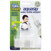 Baby Buddy Aquasip Water Bottle Adapter, White, 2-count, New,  .
