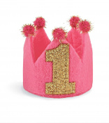 Mud Pie Baby Girls' 1st Birthday Crown Headband