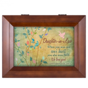 Daughter-in-Law We Love You Wood Finish Jewellery Music Box - Plays Tune You Are My Sunshine