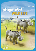2 Warthogs From The Playmobil Wildlife N ° 6941 Wild Animals Zoo