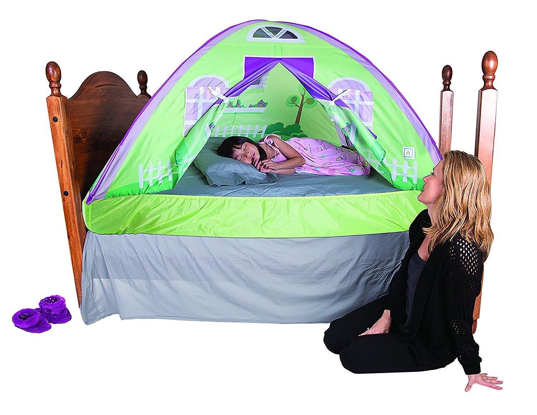 Mumustar Twin Size Pop Up Bed Tents For Boys S Double Unicorn Printed Rainbow Moon Night Children Kids Sleeping Wonderland Tent