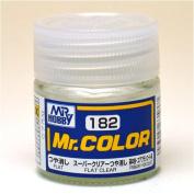 Mr. Hobby #c182 Mr. Colour Paint [flat] Flat Clear