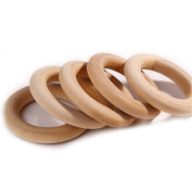 20pc 56mm 2.2 Inch Natural Unfinished Wooden Teething Rings Baby Teether Mom Diy