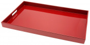 Kotobuki Rectangular Lacquer Serving Tray, 46cm - 1.9cm , Red, New,  .