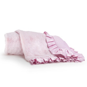 Pink Baby Girls Mix & Match Lux Fur Soft Nursery Blanket By Cocalo