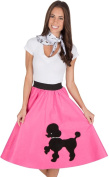 Adult Poodle Skirt With Musical Note Printed Scarf Hot Pink Colouring Pens & Mark