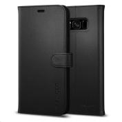 Spigen Premium Wallet Case for Galaxy S8 - Black,Convenience,Premium Quality, 3 Card slots + Cash