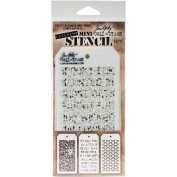 Tim Holtz Mini Layered Stencil Set 3/pkg-set #17