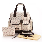 Giwox Beige Nappy Bag Backpack Baby Bag Maternal Infant Package 14 Separated 3