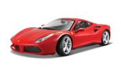 Ferrari Racing 488 Gtb Red 1:24 Diecast Model Car By Bburago 26013 New