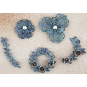 Prima Marketing Metal Patina Trinkets-flowe
