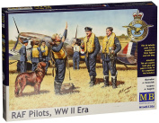 1:32 Raf Pilots Wwii Era Figurines - , Ww Ii Masterbox Plastic Model Kit