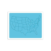 Sizzix Textured Impressions A2 Embossing Folder-u.s. Map