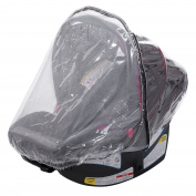 Infant Carrier Car Seat Rain & Weather Sheild Cover 2-in-1, Plastic & Net