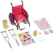 Doll Wheelchair Set With Accessories For 46cm Dolls Like American Girl Dolls