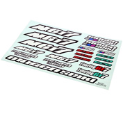 Mugen 1/8 Mgt7 Nitro Gt On-road Car * Decal Sheet * Stickers Numbers Touring