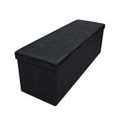 Plus Button Design Memory Foam Folding Storage Ottoman Bench With 45