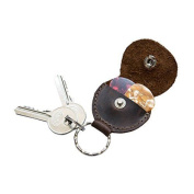 Rustic Guitar Pick Holder Leather Key Chain Handmade By Hide & Drink :