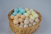 60 x mini bath bomb marbles, assorted fragrances