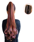 BarRan Wig Long wave Curly Ponytail Jaw Claw Clip in on Hair Piece Extension Hairpiece